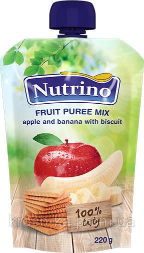 Пюре детское фруктовое яблоко банан печенье (пауч) 6м+ 220г Сербия 1030001