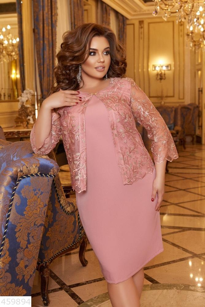 Нарядное женское платье батал большие Размеры