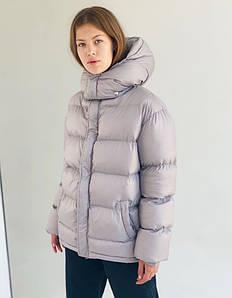 Женская серая куртка зефирка с поясом размер SM, ML, LXL
