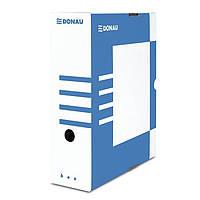 Архивный картонный бокс для хранения документов 120 мм,синий (7662301PL-10)