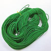Резинка шляпная 1,5мм цв зеленый (уп 100м) 122Ф