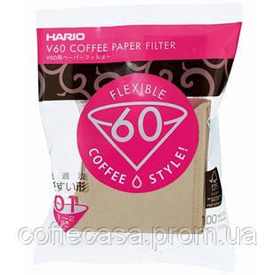 Бумажный фильтр Hario 01-02 100M бежевые (VCF-01-100M)