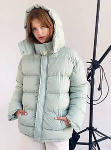 Женская куртка зефирка с поясом размер SM, ML, LXL мятная