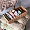 Коробочка для носочков, колгот, ремней (Бежевый), Органайзеры для вещей и обуви