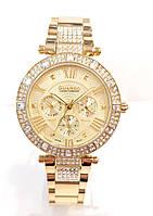 Годинники жіночі наручні на браслеті Guardo S 01080A, лимонне золото мультикалендарь
