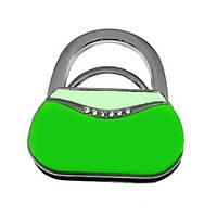 Сумкодержатель сумочка зелёная, Вешалки для сумок