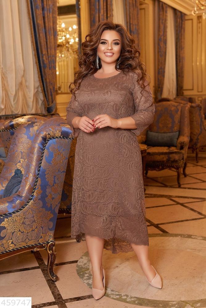 Нарядное кружевное платье длинное батал большого размера