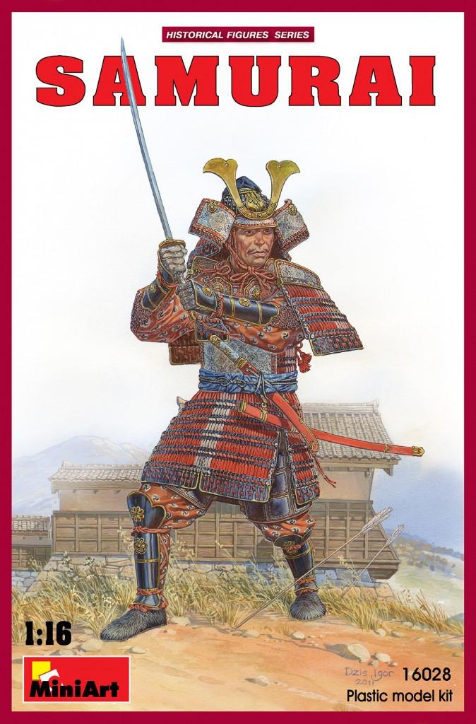 Японский самурай. Сборная пластиковая фигура в масштабе 1/16. MINIART 16028