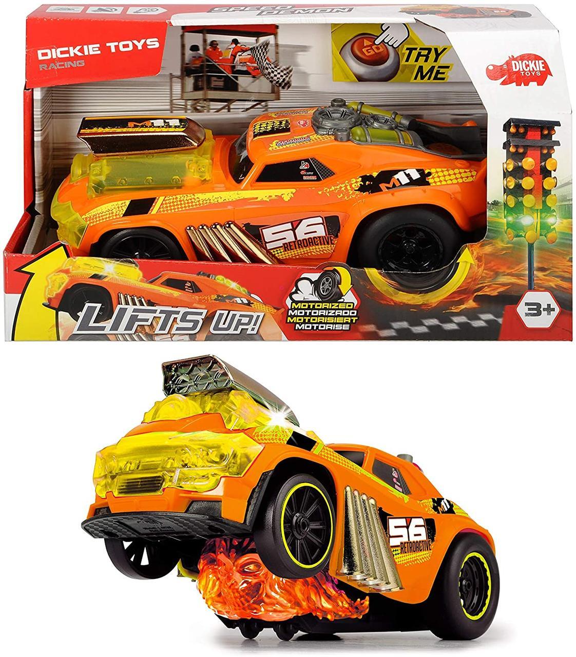 Скоростной автомобиль Демоническая скорость с функцией езды на задних колесах Dickie Toys 3764008