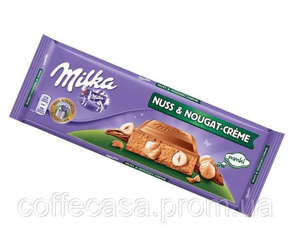Шоколад Milka Nuss Nougat Creme 300 г