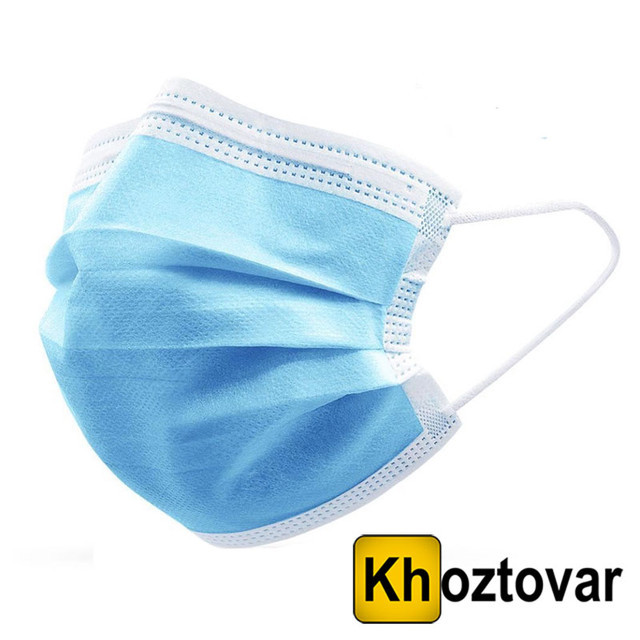 Тришарова захисна маска Diposable Mask   50 штук