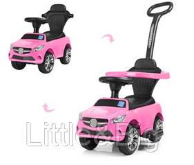 Детская машинка каталка - толокар Bambi M 3503C(MP3)-8 розовая