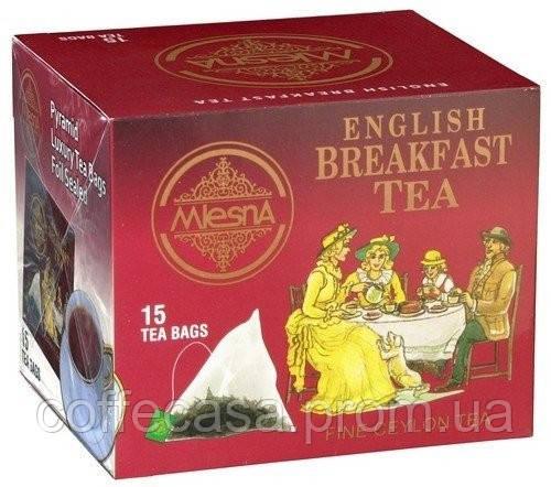 Черный чай Английский завтрак в пакетиках Млесна картон 30 г