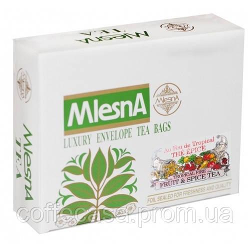 Черный чай Тропический огонь в пакетиках Млесна картон 400 г