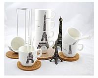 Набор чашек Париж 26 см, Оригинальные чашки и кружки, фото 1