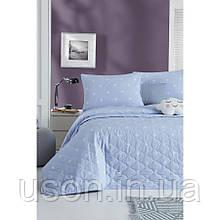 Покрывало стеганое с наволочками Enlora Home  240*225 Arti mavi голубой