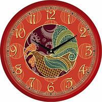 Настенные Часы Сlassic Красный Огонь Петуха, Настенные часы