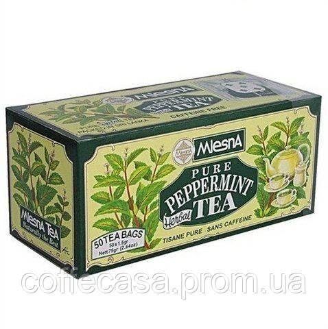 Травяной чай Перечная мята в индивидуальных пакетиках из бумаги Млесна картон 75 г