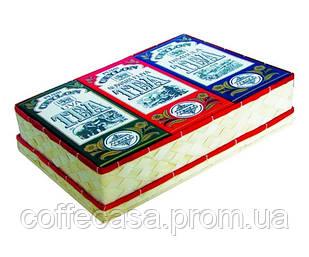 Набор черного чая Млесна 3 вида сезонного чая с 3-х регионов плетёная коробка 300 г