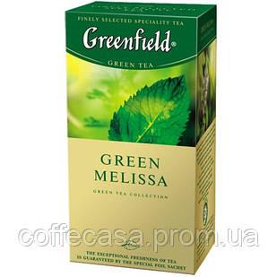 Зеленый чай Greenfield Green Melissa - Мелисса в пакетиках 25 шт