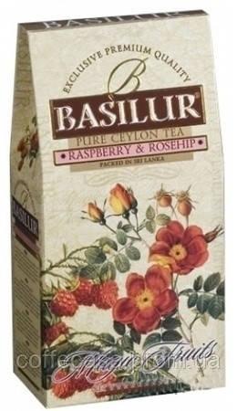Черный чай Basilur Малина и шиповник картон 100 г