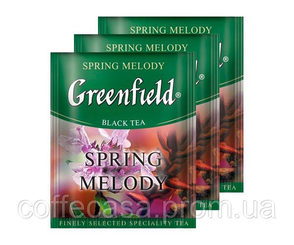 Черный чай Greenfield Spring Melody - Чабрец в пакетиках 100 шт