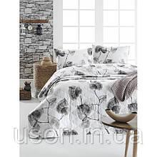 Покрывало стеганое с наволочками Enlora Home  240*225 Сolin gri серый