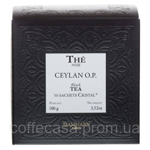Черный чай Dammann Freres Цейлон в пакетиках 50 шт