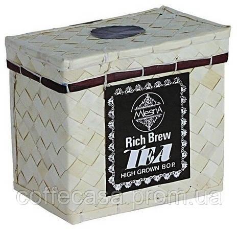 Черный чай Рич Брю B.O.P Млесна плетенная шкатулка 150 г