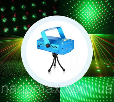 Лазерный проектор Точки мини лазер 2 цвета 6 рисунков 7193, фото 2