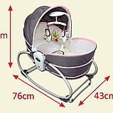Переносная люлька-качалка Mastela 5 в 1 для новорожденных , Оригинал, фото 6