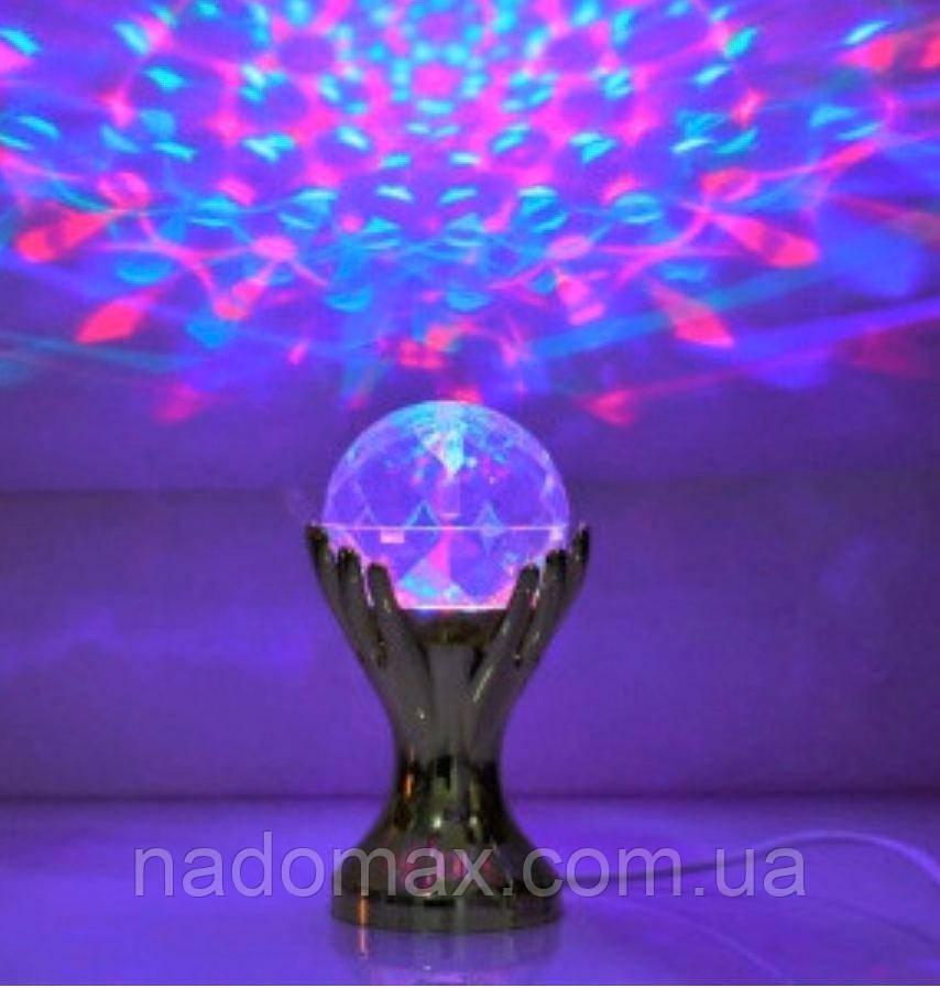 Светодиодная Диско лампа ночник,гирлянда,Рука вращающаяся 5014