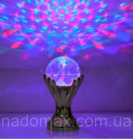 Светодиодная Диско лампа ночник,гирлянда,Рука вращающаяся 5014, фото 2