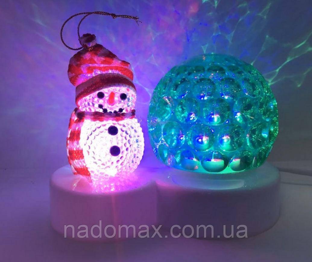 Диско-шар ,снеговик новогодний 5001