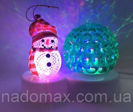 Диско-шар ,снеговик новогодний 5001, фото 2