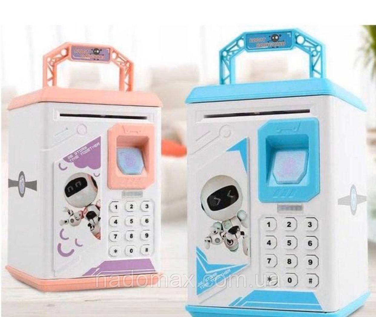 Электронная Копилка сейф с отпечатком пальца и кодовым замком 906
