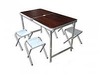 Складной стол для пикника со стульями (Коричневый), Стулья и Столы