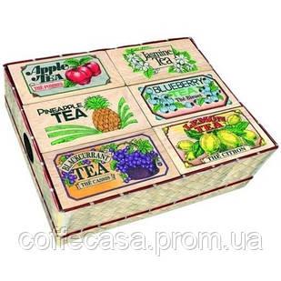 Набор черного чая 6 видов Млесна плетеная корзинка 300 г