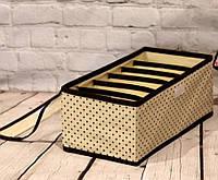 Органайзер с крышкой на 6 секций в горошек, Органайзеры для вещей и обуви, фото 1