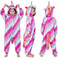 Детская пижама кигуруми Единорог Млечный Путь 140 см, Пижамы Кигуруми
