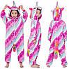 Детская пижама кигуруми Единорог Млечный Путь 120 см, Пижамы Кигуруми