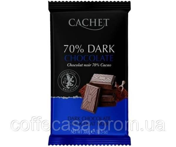 Экстра черный шоколад Cachet 70% какао 300 г
