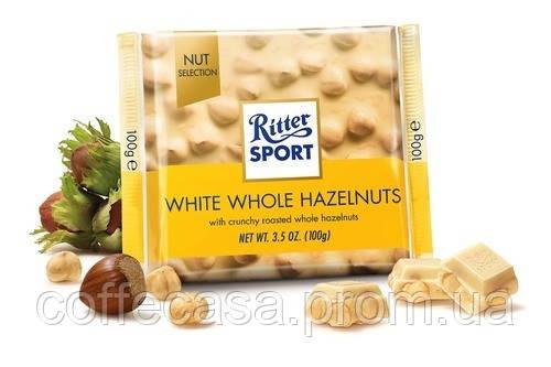 Белый шоколад Ritter Sport Цельный фундук 100 г