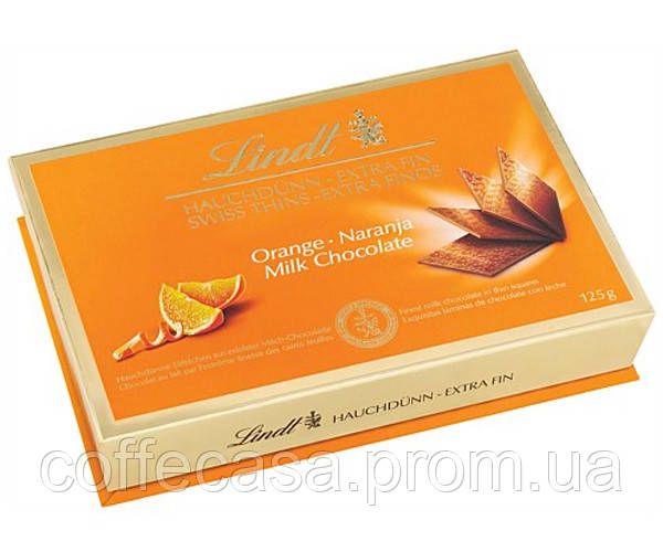 Шоколад Lindt Swiss Thins молочный Orange Milk 125 г