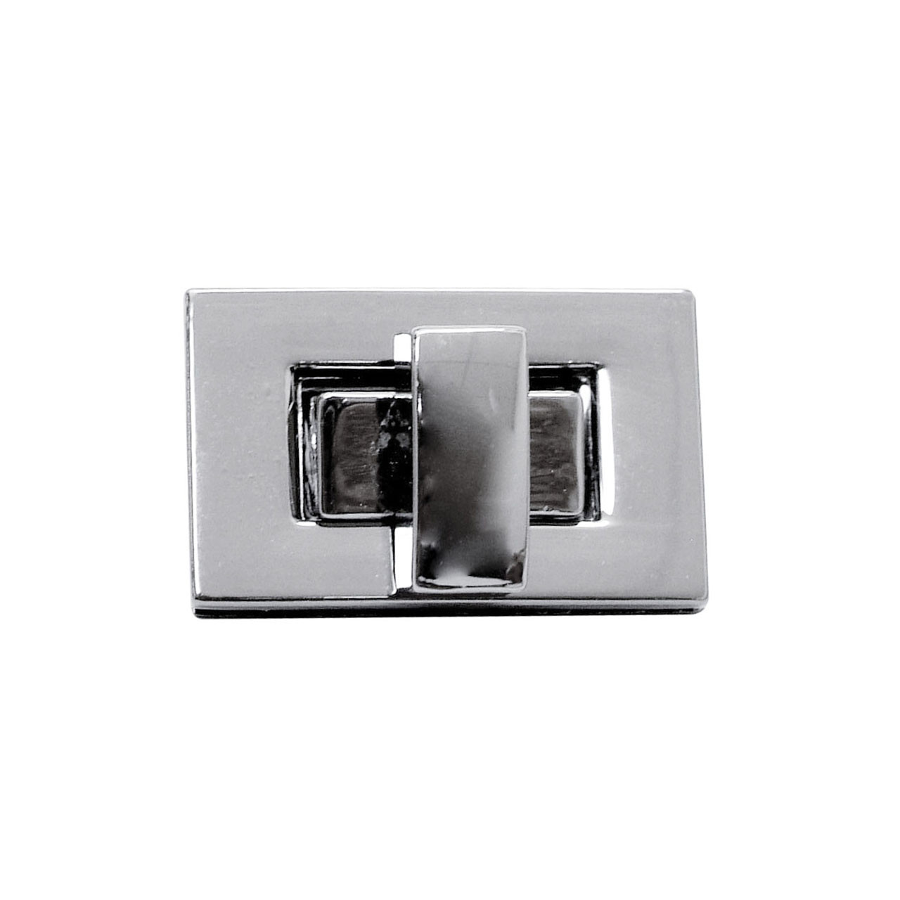 Замок прямоугольный поворотный на винтах 2,6х1,6 см Багажный Серебро