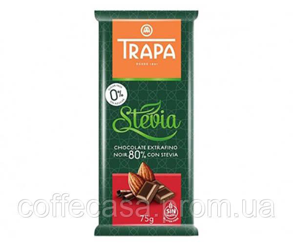 Шоколад Trapa Stevia черный 80% 75 г (8410679030031)