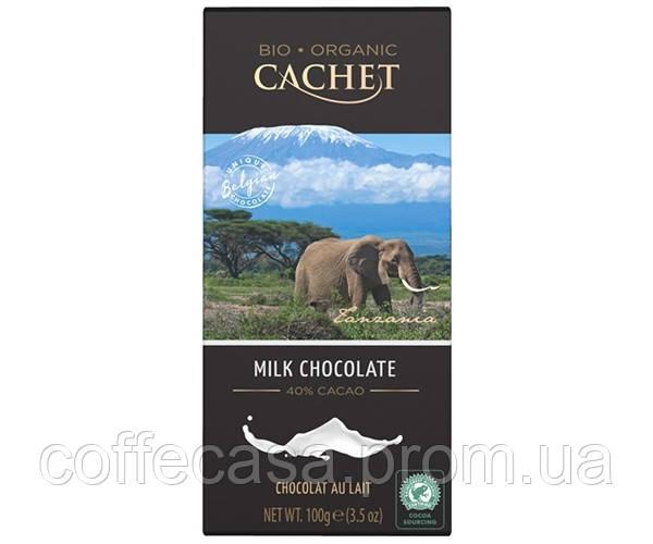 Молочный шоколад Cachet Organic Milk Chocolate 40% Tanzania 100 г