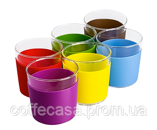 Набор стеклянных стаканов с силиконовыми накладками 250 мл