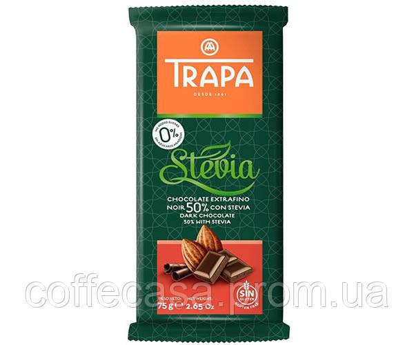 Шоколад Trapa Stevia черный 50% 75 г (8410679030024)