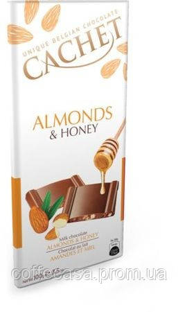 Молочный шоколад Cachet Миндаль и Мёд 100 г